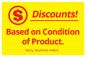 Discounts based on condition of product.