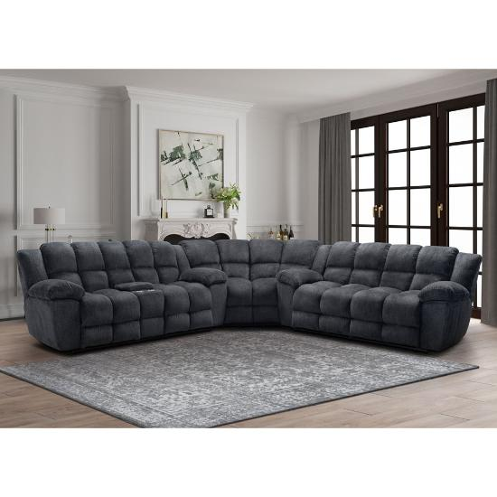 Picture of VOGUE HOME FURNISHINGS JAMESON-3PC-RECL-SECTIONAL-PKG