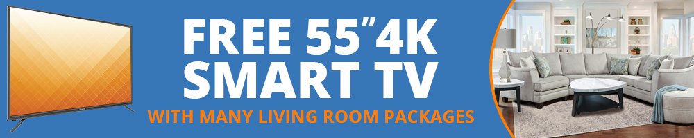 Many living room packages include a FREE TV!